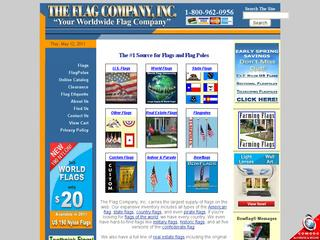 This is what the flagco.com website looks like.