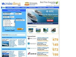 This is what the cruisedirect.com website looks like.