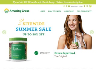 Go to amazinggrass.com website.