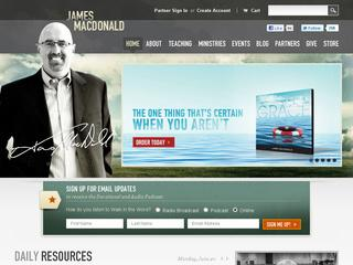 This is what the jamesmacdonald.com website looks like.
