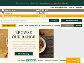 Go to Wiltshire Farm Foods website.