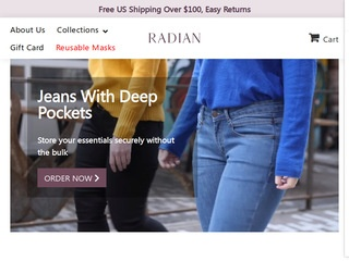 Go to Radian Jeans website.