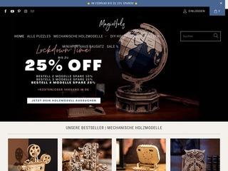 Go to magicholz.de website.