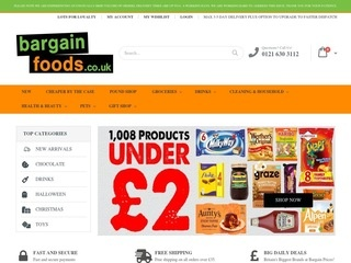 Go to bargainfoods.co.uk website.