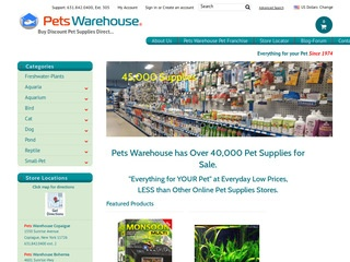 Go to Pets Warehouse website.