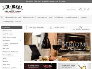 Go to Liquorama website.