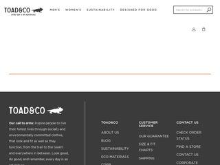 Go to toadandco.com website.