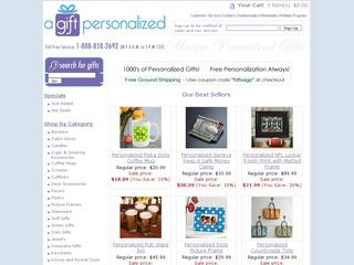This is what the agiftpersonalized.com website looks like.