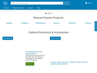 This is what the dell.com website looks like.
