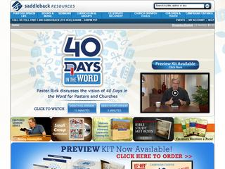 This is what the saddlebackresources.com website looks like.