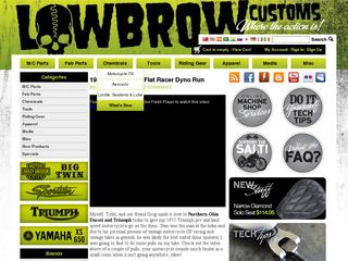 This is what the lowbrowcustoms.com website looks like.