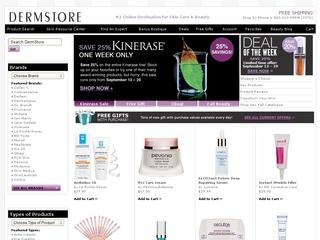 This is what the dermstore.com website looks like.
