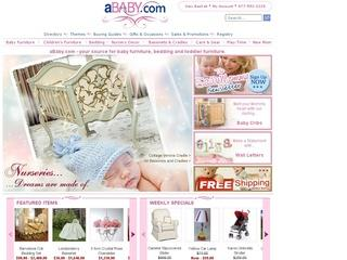 This is what the ababy.com website looks like.