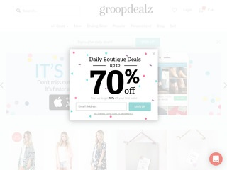Go to Groopdealz website.