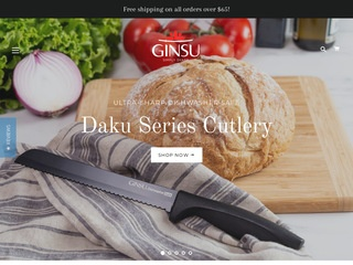 Go to ginsu.com website.
