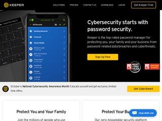 Go to keepersecurity.com website.