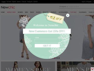 Go to newchic.com website.