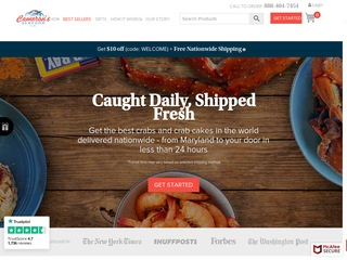 Go to Cameron's Seafood website.