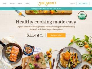 Go to sunbasket.com website.