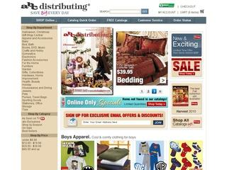 This is what the abcdistributing.com website looks like.