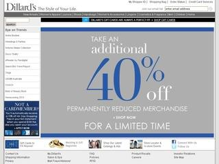 Go to dillards.com website.
