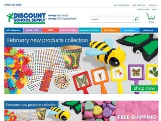 Go to discountschoolsupply.com website.