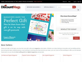 This is what the discountmags.com website looks like.