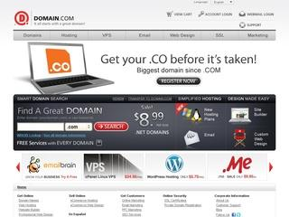 Go to domain.com website.