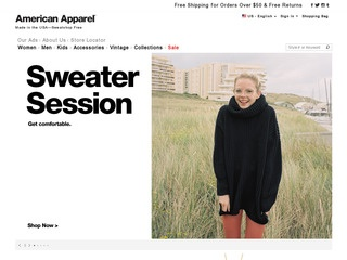 Go to American Apparel website.