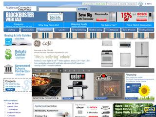 This is what the appliancesconnection.com website looks like.