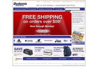 Go to dunhamssports.com website.