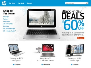 This is what the hp.com website looks like.