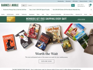 This is what the barnesandnoble.com website looks like.