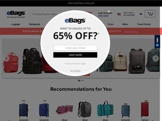 Go to ebags.com website.