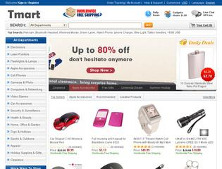 This is what the tmart.com website looks like.