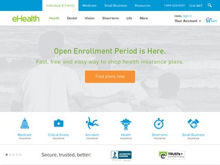 Go to ehealthinsurance.com website.