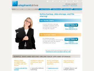 Go to elephantdrive.com website.