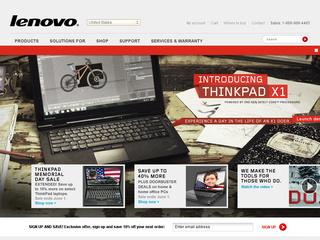 This is what the shop.lenovo.com website looks like.