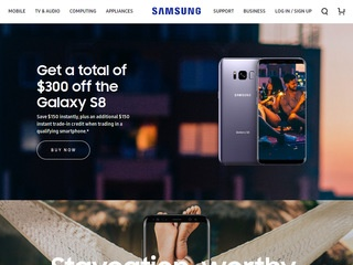 This is what the samsung.com website looks like.