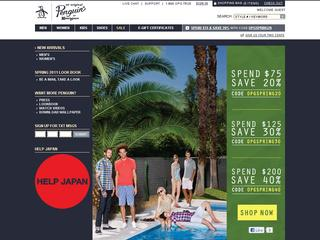This is what the originalpenguin.com website looks like.