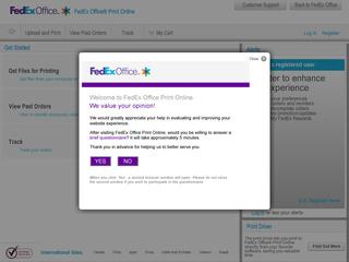This is what the printonline.fedex.com website looks like.
