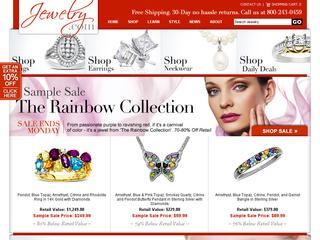 This is what the jewelry.com website looks like.