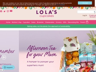 Go to Lola' s Cupcakes website.
