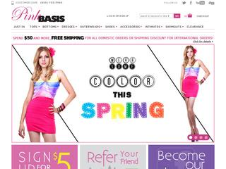 This is what the pinkbasis.com website looks like.