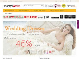 This is what the helenedress.com website looks like.