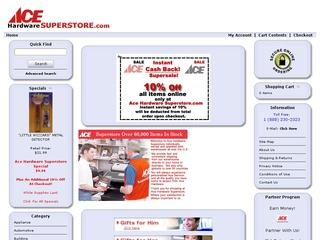 This is what the acehardwaresuperstore.com website looks like.