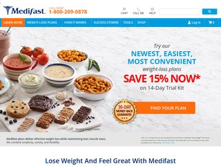 This is what the medifast1.com website looks like.