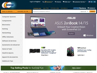 This is what the newegg.com website looks like.