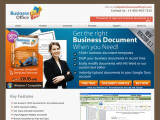 This is what the businessofficepro.com website looks like.