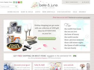 Go to belleandjune.com website.